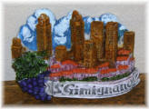 Magnet San Gimignano grape