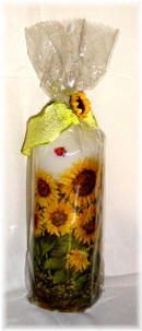 "Candle Découpage ""sunflowers"""
