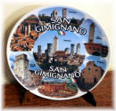"Ceramic plate San Gimignano ""collage"""