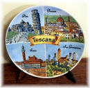 "Ceramic plate Tuscany ""watercolour"""