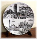 "Ceramic plate Tuscany ""black/white"""