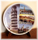 "Ceramic plate Tuscany ""city"""