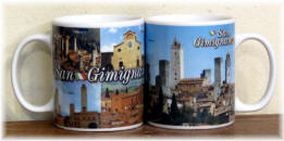 "Ceramic cup San Gimignano ""towers"""