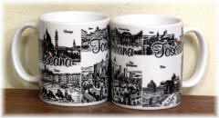 "Ceramic cup Tuscany ""black/white ink"""