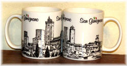 "Ceramic cup San Gimignano ""black/white ink"""